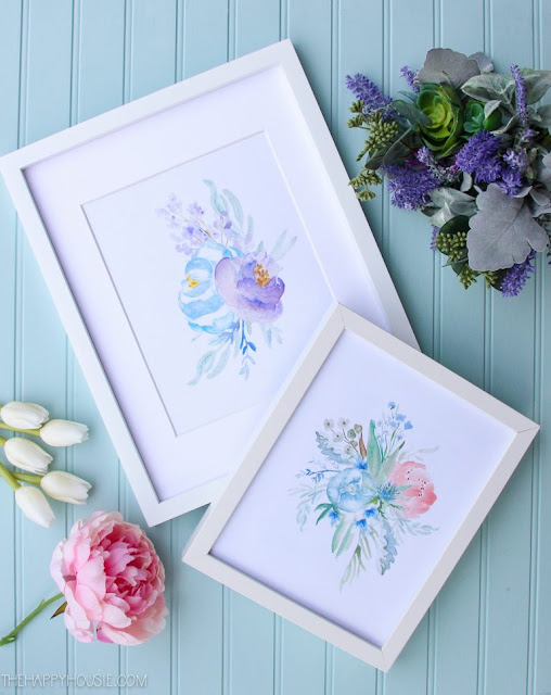Floral Watercolor Designs by The Happy Housie
