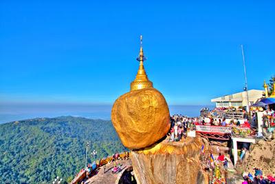 The Golden Rock -Myyanmar (Barma) (Kyaiktiyo Pagoda - 7 meters/24 ft)-ప్రపంచంలోనే 3వ అతి పెద్ద బుద్ధ దేవాలయం మయన్మార్ (బర్మా) లోని  క్యాయైక్టియో బుద్ధ దేవాలయం- బంగారు రాయి విశిష్టత-   గోల్డెన్ రాక్ మిస్టరీ పై వీడియో కధనం