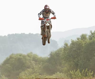 Slik fotografi motocross