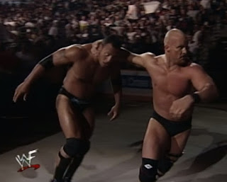 WWE / WWF - Backlash 1999 - Steve Austin beats up The Rock
