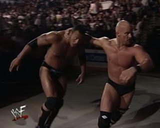 WWE / WWF - Backlash 1999 - Steve Austin beats up The Rock