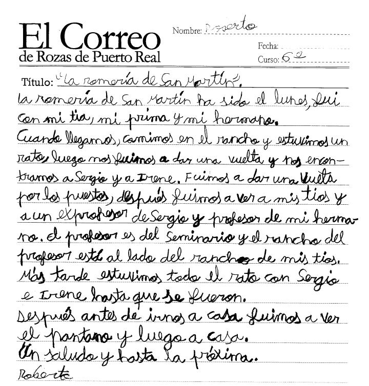 El Correo De Rozas De Puerto Real La Romer A De San Mart N