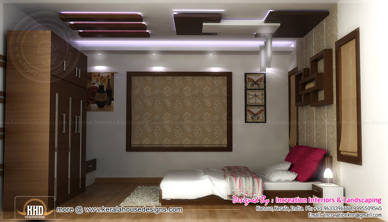 Sunken seating and other home interior ideas home kerala for 10x12 bedroom
