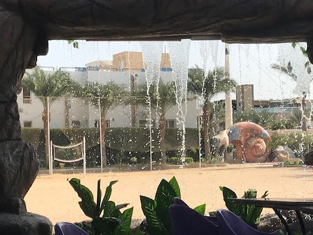 Hurghada Seagull resort waterfall food court