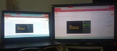 via teclado: espelhar imagem do notebook para a tela de TV, ao mesmo tempo?