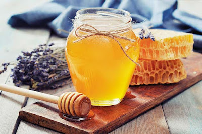 Alimento miel abeja arándano