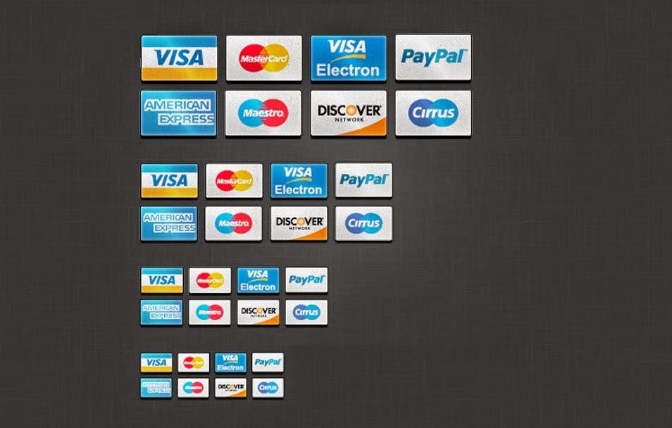 Web 2.0 Credit Card Icons PSD