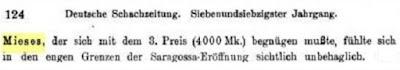 Recorte de Deutsche Schachzeitung, 1922