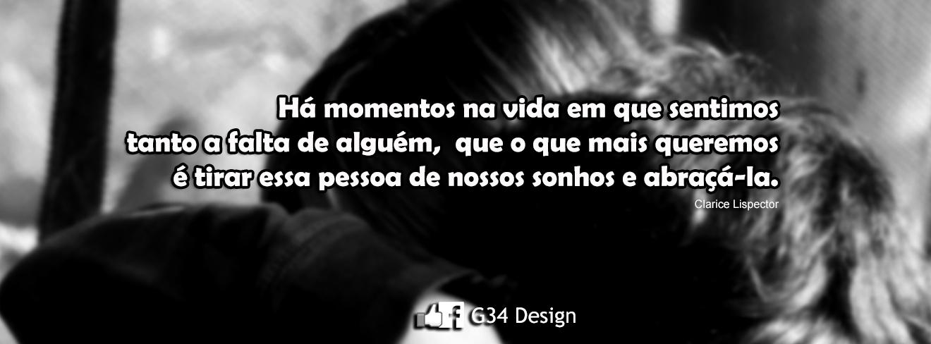 G34 Design Capa Para Facebook Amor Pensamento Clarice Lispector