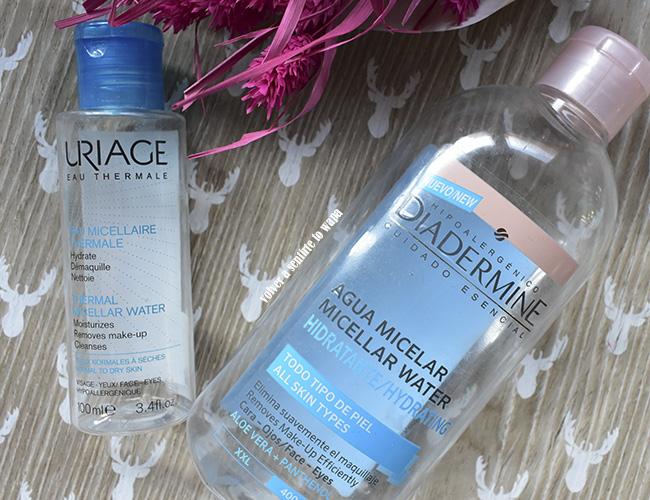 Agua Micelar de Uriage y Agua Micelar de Diadermine