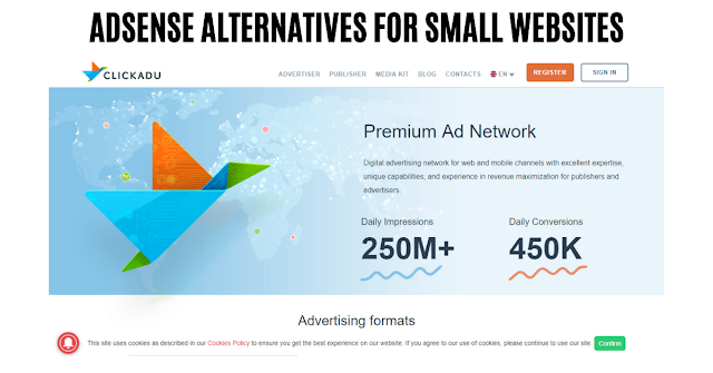 adsense alternatives for small websites