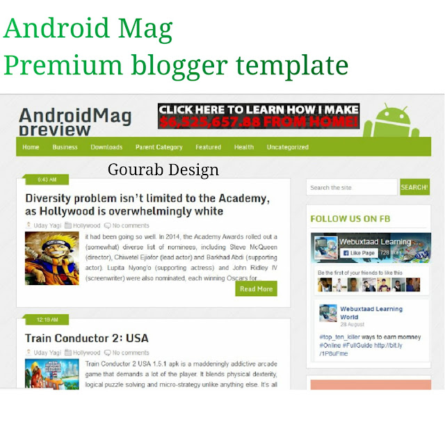 Android mag app blogger template