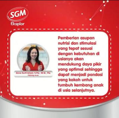 Tips Stimulasi Yang Tepat Untuk Anak Usia 1-3 Tahun Bersama SGM Eksplor