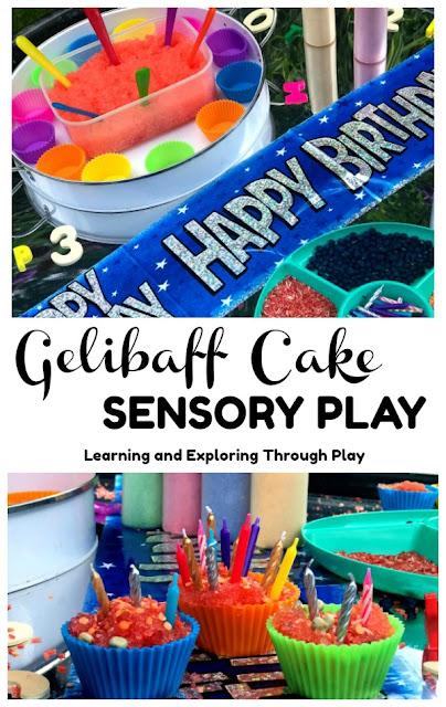 Gelibaff Cake Sensory Play