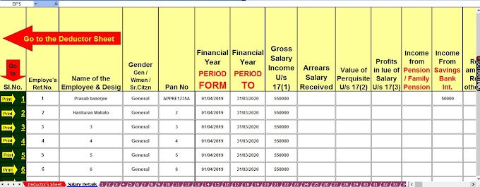 Tax Benefit on Home Loan: Section 24, 80EEA & 80C With Automated Excel Based Income Tax Revised Form 16 Part B for F.Y. 2019-20