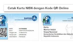 Cetak Kartu NISN dengan Kode QR Online