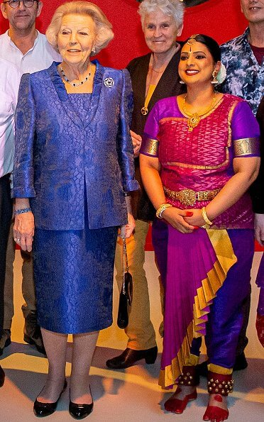 Princess Beatrix of the Netherlands attended a symposium of the inter-religious network, In Vrijheid Verbonden at Tivoli Vredenburg