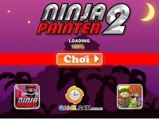 Ninja sơn tường 2 game vô cùng thú vị