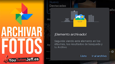archivar fotos en google fotos