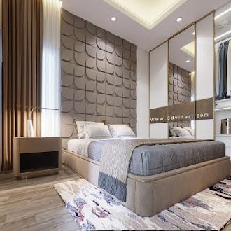 Bedroom 3D Panel Kawung