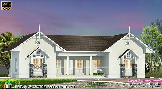 Victorian model front view home design
