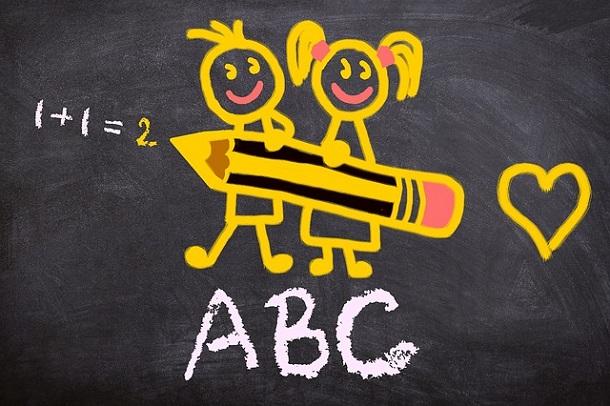 1+1=2, OKUL, ÖĞRENCİ, ABC, KARA TAHTA