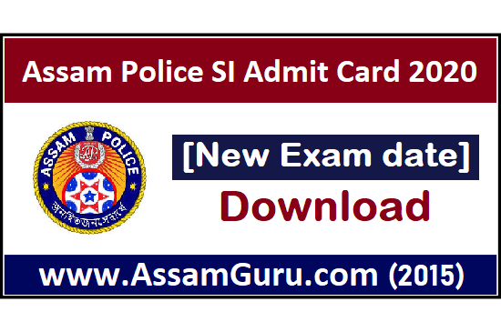 SI Admit Card New Exam Date