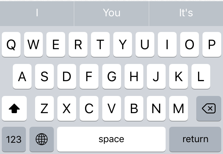 iPhone default English keyboard