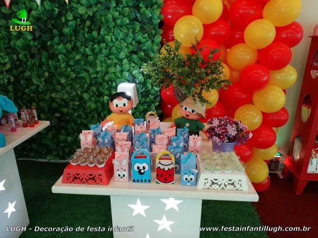Decoração de aniversário infantil Turma da Mônica - Festa feminina
