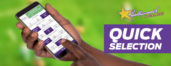 Quick Selection - Soccer Betting - Hollywoodbets Mobile