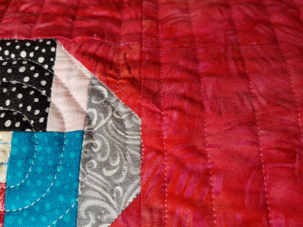 Straight line quilting | DevotedQuilter.blogspot.com