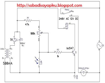 Membuat Rangkaian Kontrol Lampu Otomatis