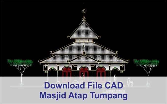 download Masjid Atap Tumpang AutoCad