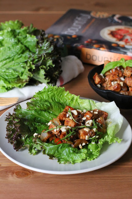 Lettuce Wraps with Almond-Basil Chicken from Bountiful by Todd Porter and Diane Cu