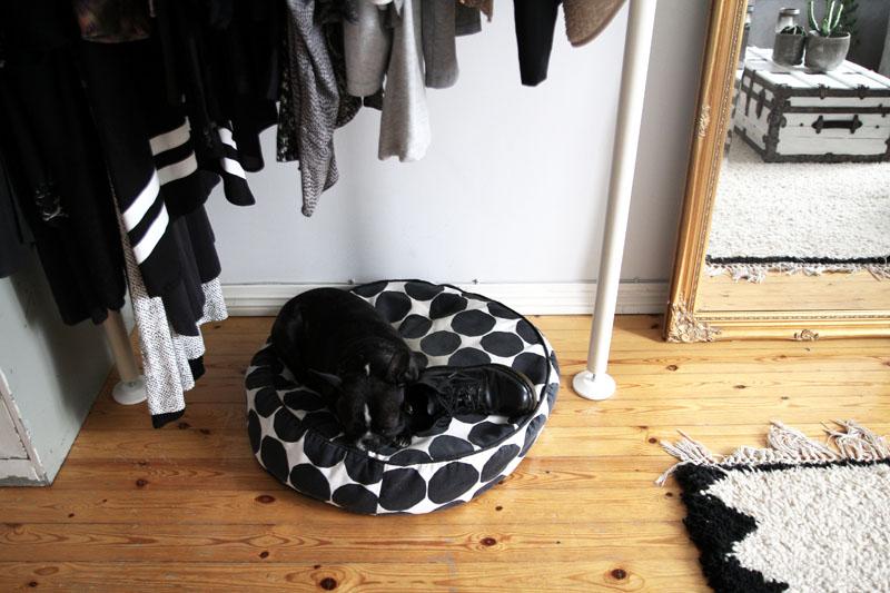 Suelo de madera para un vestidor