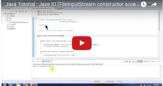 Java ee java tutorial java io fileinputstream for Object pool design pattern java