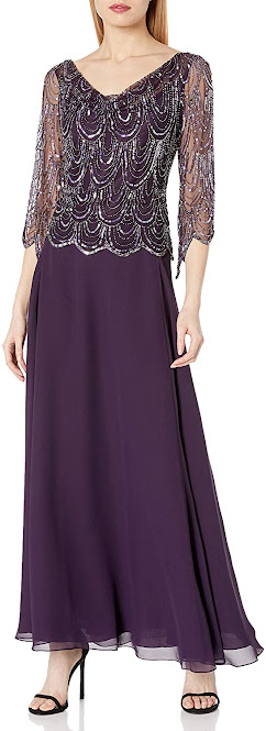 Lace Purple Mother of The Bride Dresses