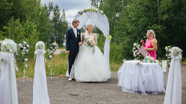 Пример оформления свадебной церемонии
