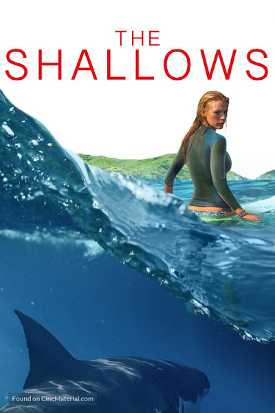 Poster of The Shallows 2016 Hindi 720p BRRip Dual Audio Full Movie Download