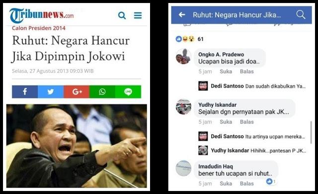 Ruhut: Negara Hancur Jika Dipimpin Jokowi, Warganet: Omongan Ruhut Terbukti