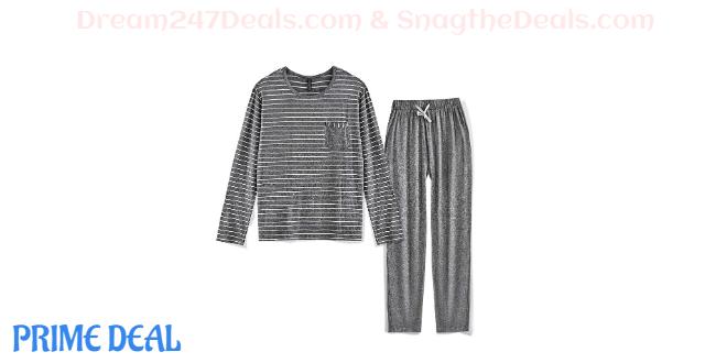 Men's Pajama Set Long Sleeve Sleepwear 40%OFF