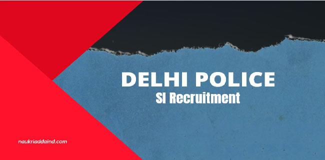 SSC Delhi Police SI Recruitment 2020