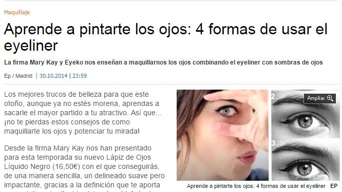 4 formas de usar eyeliner