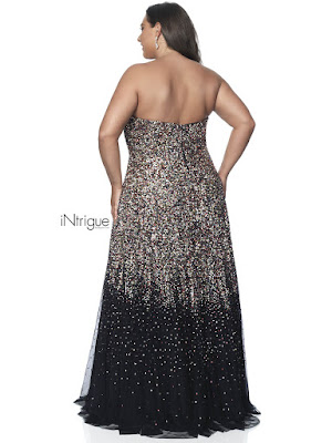 Sweetheart A-line Intrigue by Blush plus size porn dress lvory color Back side
