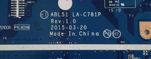 LA-C781P Rev 1.0 ABL51 HP 15-af011ur Bios