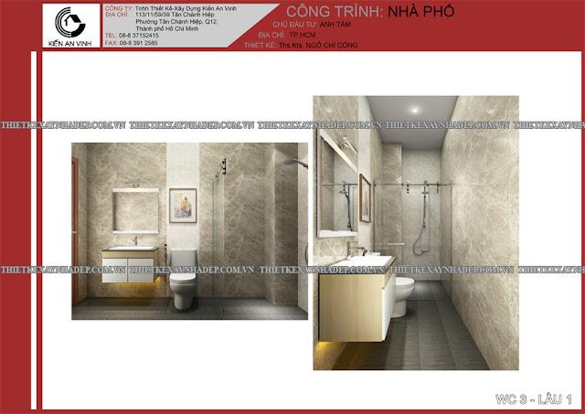 Mẫu thiết kế đẹp 2 tầng bán cổ điển mặt tiền 5m tại Long An Wc-lau-1