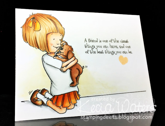 Sassy Cheryl's, Kecia Waters, Copic markers, dog, love, puppy kisses