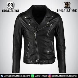 Jual Jaket Kulit Asli Garut Pria Domba Original Brida Leather B49 Ramones   WA 08813430588