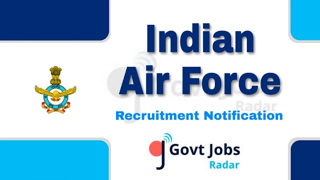 Indian Air Force Recruitment 2019 - for AFCAT 01/2020/NCC Special Entry - 249 post