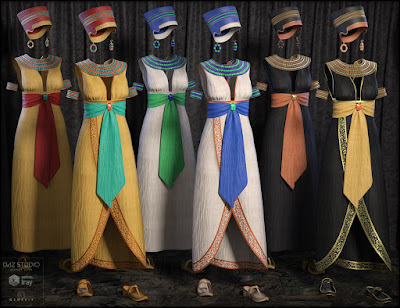 Egyptian Outfit for Genesis 3 Female